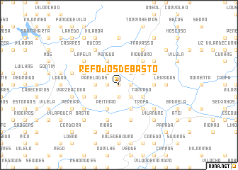 map of Refojos de Basto