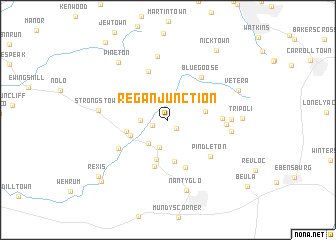 map of Regan Junction