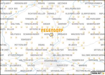 map of Regendorf