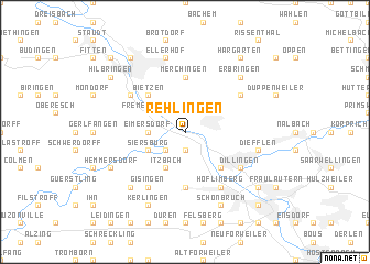map of Rehlingen