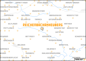 map of Reichenbach am Heuberg