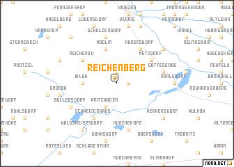 map of Reichenberg