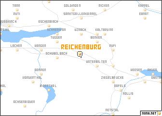 map of Reichenburg