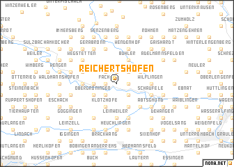 map of Reichertshofen
