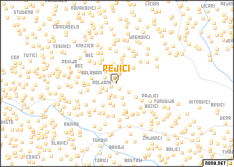map of Rejići