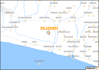 map of Rejosari
