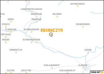 map of Rękawczyn