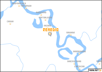 map of Remédio