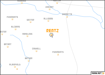map of Rentz