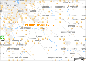 map of Reparto Santa Isabel