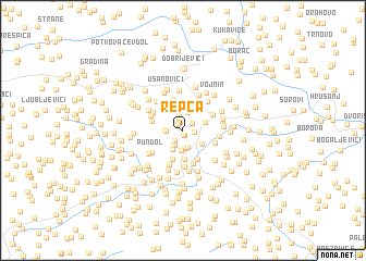 map of Repca