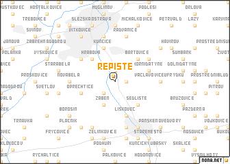 map of Řepiště