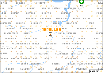 map of Repollés