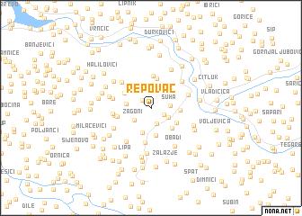 map of Repovac