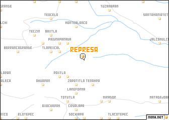 map of Represa