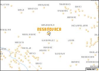 map of Resanovača