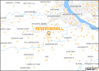 map of Reservoir Hill