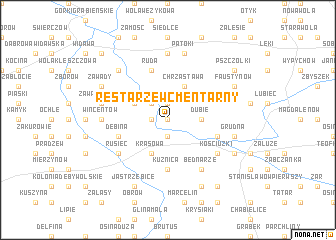 map of Restarzew Cmentarny