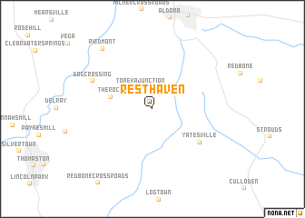 map of Rest Haven