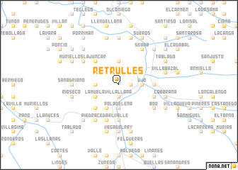 map of Retrullés