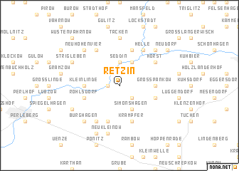 map of Retzin