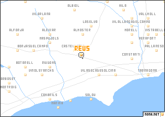 Map Of Spain Reus.Reus Spain Map Nona Net