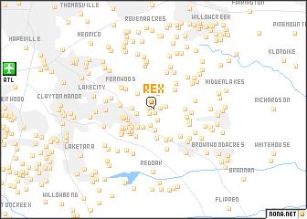 Rex United States Usa Map Nonanet