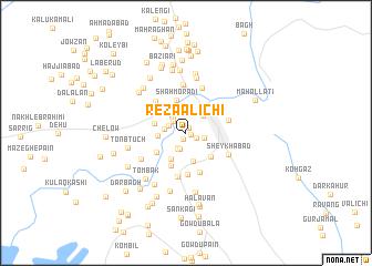 map of Reẕā 'Alīchī