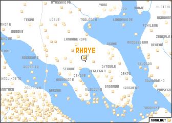 map of Rhayé