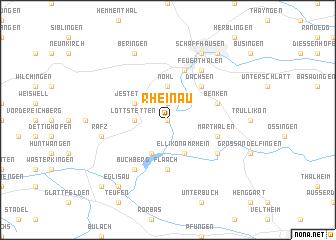 map of Rheinau