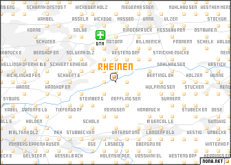 map of Rheinen