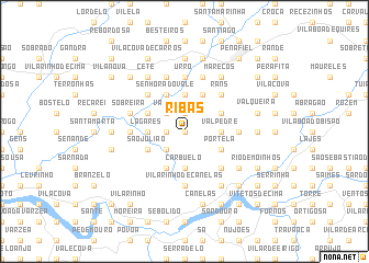 map of Ribas