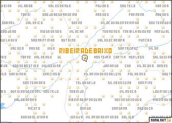 map of Ribeira de Baixo