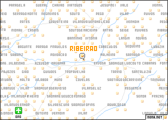 map of Ribeirão