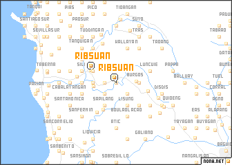 map of Ribsuan