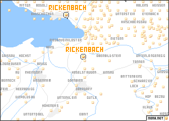 map of Rickenbach