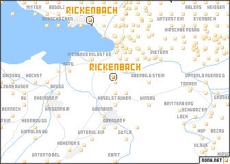 map of Rickenbach