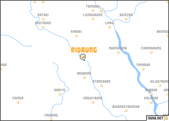 map of Ridaung