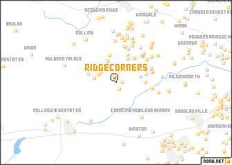 map of Ridge Corners