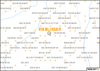 map of Rieblingen