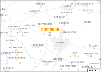 map of Riedbahn