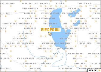 map of Riederau
