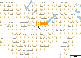 map of Riedering