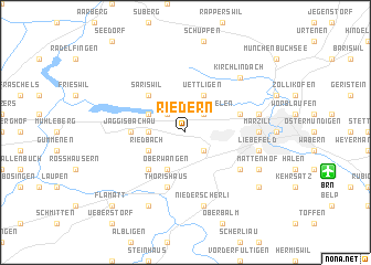 map of Riedern