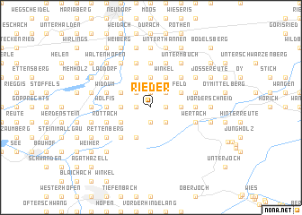 map of Rieder