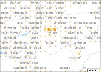 map of Riedis