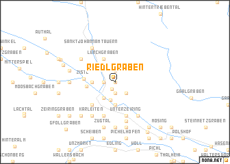 map of Riedlgraben