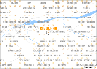 map of Riedlham