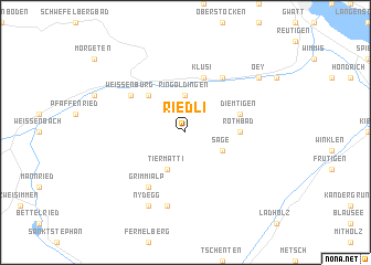 map of Riedli
