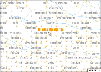 map of Riegersburg
